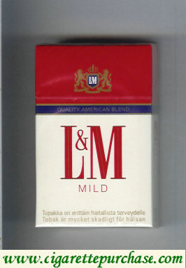 Discount L&M Quality American Blend Mild cigarettes hard box