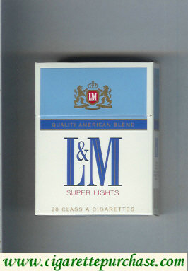 Discount L&M Quality American Blend Super Lights Short cigarettes hard box