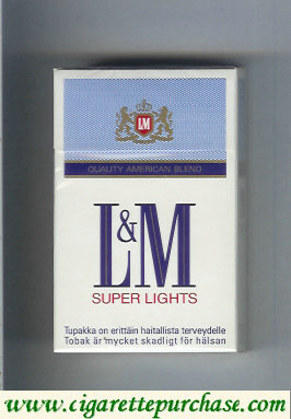 Discount L&M Quality American Blend Super Lights cigarettes hard box