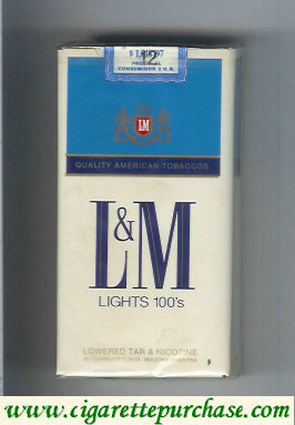 Discount L&M Quality American Tobaccos Lights 100s cigarettes soft box