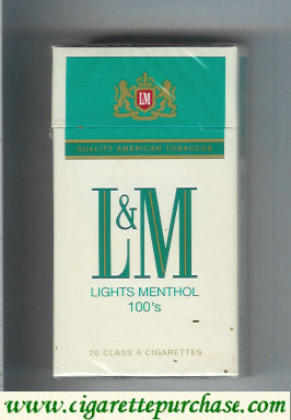 L&M Quality American Tobaccos Lights Menthol 100s cigarettes hard box