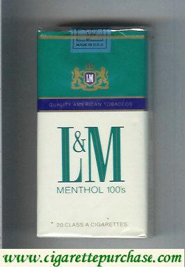 Discount L&M Quality American Tobaccos Menthol 100s cigarettes soft box