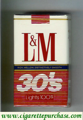 L&M Rich Mellow Distinctively Smooth 30s Filters Lights 100s cigarettes soft box