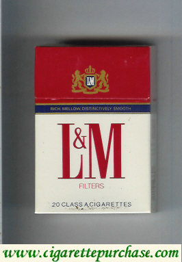 L&M Rich Mellow Distinctively Smooth Filters cigarettes hard box