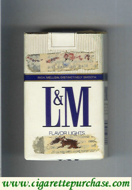 L&M Rich Mellow Distinctively Smooth Filters cigarettes soft box
