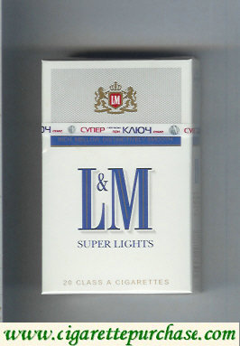 Discount L&M Rich Mellow Distinctively Smooth Super Lights cigarettes hard box