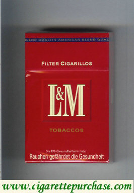 Discount L&M Tobaccos Filter Cigarillos cigarettes hard box