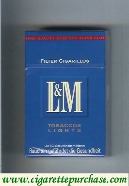 Discount L&M Tobaccos Lights Filter Cigarillos cigarettes hard box