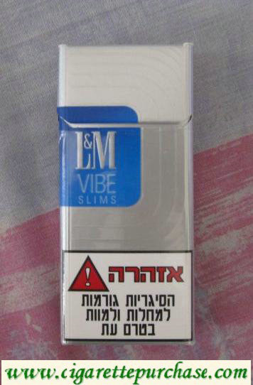 Discount L&M Vibe Slims 100s cigarettes hard box