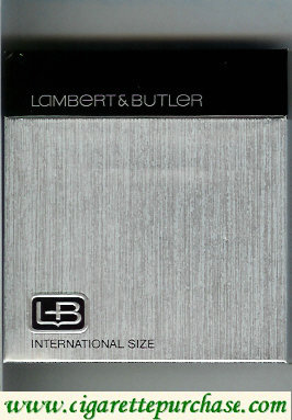 Discount L&B Lambert and Butler 100s cigarettes wide flat hard box