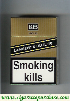 Discount L&B Lambert and Butler Gold cigarettes hard box