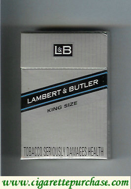 Discount L&B Lambert and Butler King Size cigarettes hard box