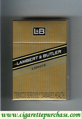 Discount L&B Lambert and Butler Lights cigarettes hard box