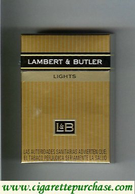 Discount L&B Lambert and Butler Lights hard box cigarettes