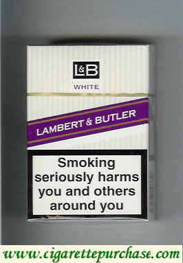 Discount L&B Lambert and Butler White cigarettes hard box