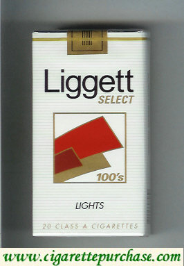 Discount Liggett Select 100s Lights cigarettes soft box
