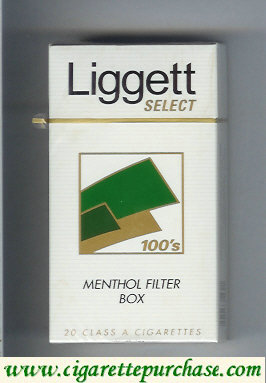Discount Liggett Select 100s Menthol Filter Box cigarettes hard box