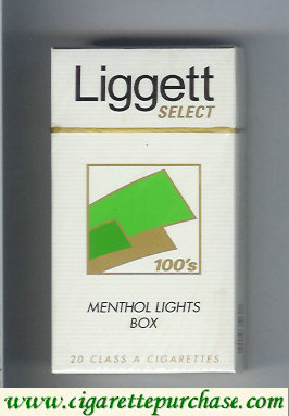 Discount Liggett Select 100s Menthol Lights Box cigarettes hard box