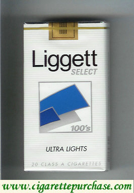 Discount Liggett Select 100s Ultra Lights cigarettes soft box
