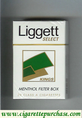 Discount Liggett Select Kings Menthol Filter Box cigarettes hard box