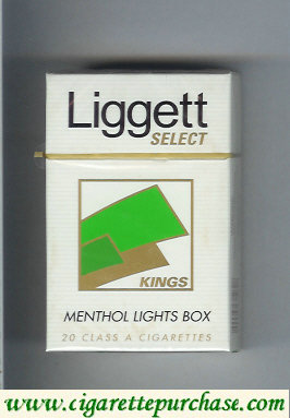 Discount Liggett Select Kings Menthol Lights Box cigarettes hard box