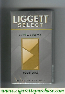 Discount Liggett Select Ultra Lights 100s Box cigarettes hard box
