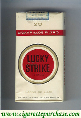 Discount Lucky Strike 20 Cigarrilos Filtro Largo De Lujo 100s cigarettes soft box