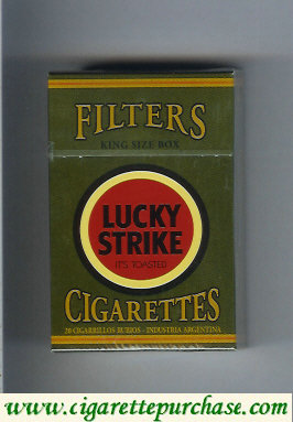 Discount Lucky Strike Filter King Size Box green and red cigarettes hard box