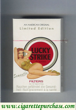 Discount Lucky Strike Filter Samantha cigarettes hard box