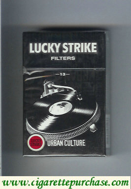 Discount Lucky Strike Filters 13 Urban Culture hard box cigarettes