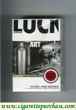 Discount Lucky Strike Filters Art cigarettes hard box