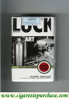 Discount Lucky Strike Filters Art cigarettes soft box