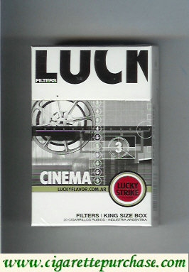 Discount Lucky Strike Filters Cinema cigarettes hard box