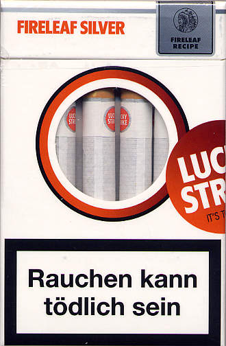 Discount Lucky Strike Fireleaf Silver cigarettes hard box