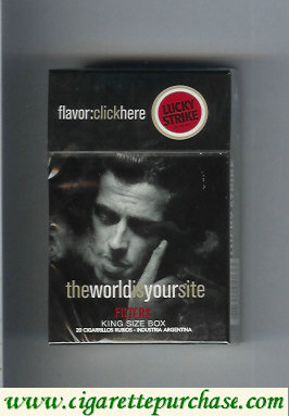 Discount Lucky Strike FlavorChickHereTheWorldIs Filters cigarettes hard box