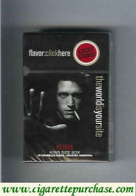 Discount Lucky Strike FlavorChickHereTheWorldIs Filters hard box cigarettes