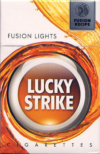 Discount Lucky Strike Fusion Lights cigarettes hard box