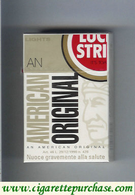 Discount Lucky Strike Lights An American Original cigarettes hard box