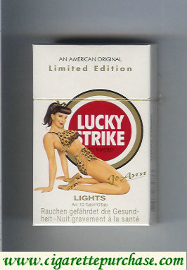 Discount Lucky Strike Lights Jo-Ann cigarettes hard box