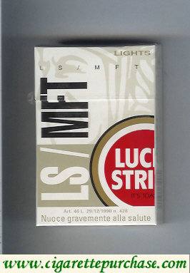 Discount Lucky Strike Lights LS MFT cigarettes hard box