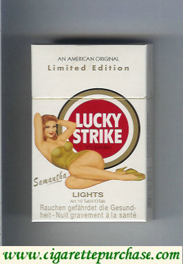 Discount Lucky Strike Lights Samanta cigarettes hard box