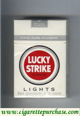 Discount Lucky Strike Lights white cigarettes hard box