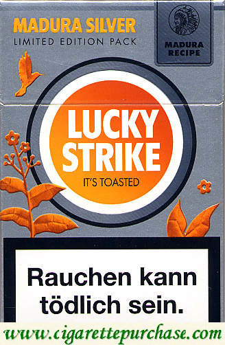 Discount Lucky Strike Madura Silver cigarettes hard box