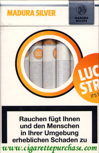 Discount Lucky Strike Madura Silver hard box cigarettes