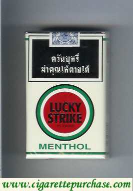 Discount Lucky Strike Menthol white and red cigarettes soft box