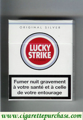 Discount Lucky Strike Original Silver Lights 25s cigarettes hard box