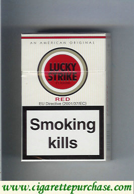 Discount Lucky Strike Red cigarettes hard box