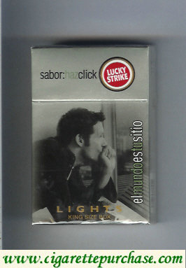 Discount Lucky Strike Sabor Haz Chick Lights cigarettes hard box