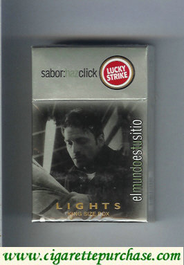 Discount Lucky Strike Sabor Haz Chick Lights hard box cigarettes