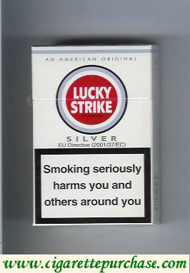 Discount Lucky Strike Silver Lights cigarettes hard box
